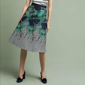 Eva Franco floral jacquard skirt NWOT